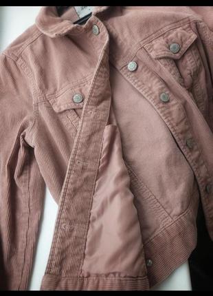 Вельветовая куртка пиджак пудрового цвета denim co3 фото