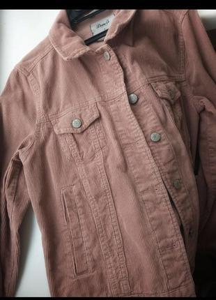 Вельветовая куртка пиджак пудрового цвета denim co2 фото