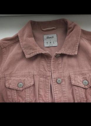 Вельветовая куртка пиджак пудрового цвета denim co4 фото