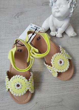 Босоножки сандали для девочки h&m