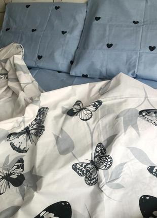"""Двухспальной комплект постельного белья из бязь голд""""бабочки"""""""