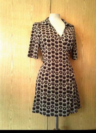 Платье халат трикотажное