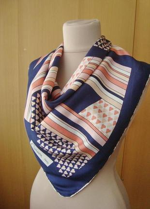 Carven paris, 100% шелк, платок шейный.
