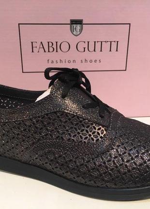 Туфли на шнуровке, перфорация,кожа%,есть цвета ,38, расспродажа