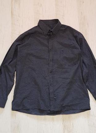Легкая натуральная рубашкка в клетку polo by ralph lauren