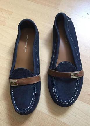Кожаные туфли мокасины tommy hilfiger