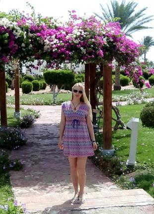 Sale летнее платье сарафан от accessorize с этническим принтом и узором на размер s - м