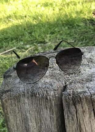 Стильные очки капли-черные