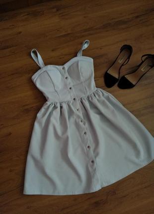 Легкое летнее платье сарафан на заклепках стрейчевое