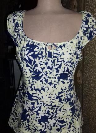 Летняя распродажа льняная блузка