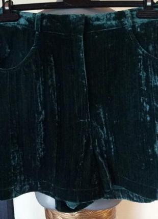 Трендовые шорты велюр муар