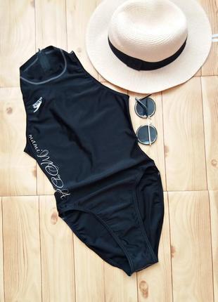 Черный спортивный сдельный купальник от speedo размер s