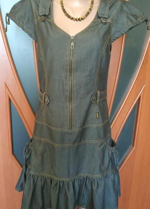 Джинсовое платье zemal