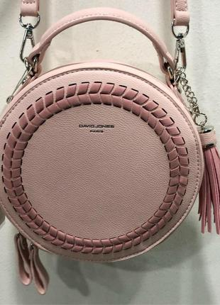 Круглая розовая сумка david jones