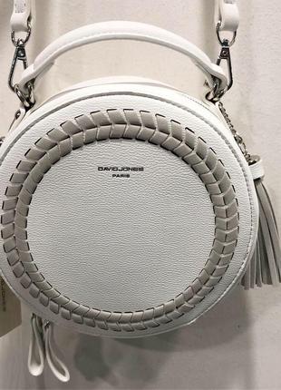 Белая кругла сумка david jones
