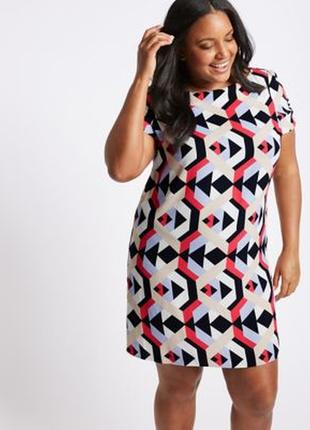 Распродажа платье- туника m&s в геометрическом стиле р.18 50-52