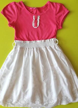 Платье с батистовой юбкой на 3-4 года