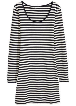 Платье морское, полоска н&м, s, новое