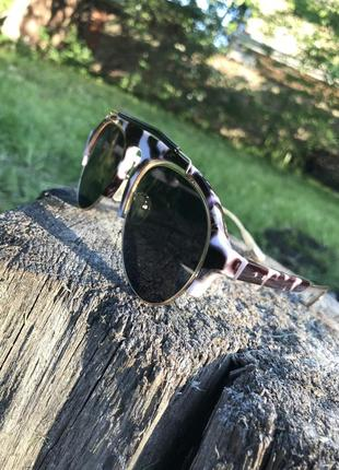Эффектные очки капли в леопардовой оправе
