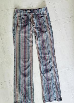 Веселые летние джинсы в полоску 👖