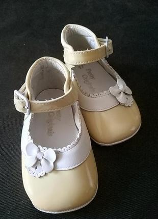 Первые туфельки, пинетки из натуральной кожи1 фото
