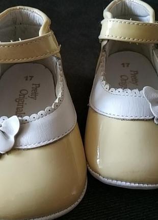 Первые туфельки, пинетки из натуральной кожи2 фото