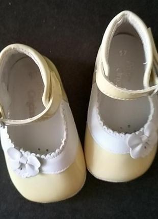 Первые туфельки, пинетки из натуральной кожи3 фото
