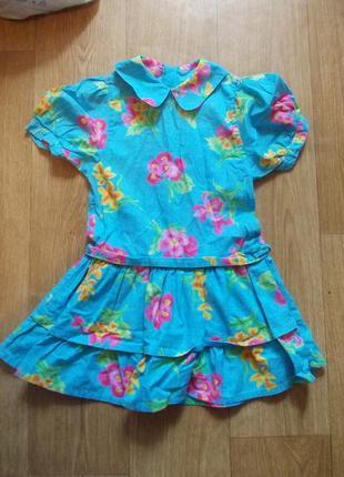 Платье 4 года, 104 см, heskia, хлопок4 фото