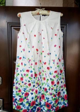 Нежное платье ostin с акварельным принтом можно беременным для беременных