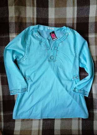 Новая блуза туника marks&spanser с вышивкой