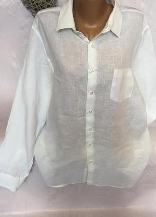 Шикарная рубашка лен100%
