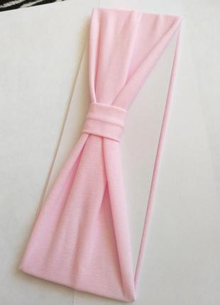 Простая розовая повязка-чалма