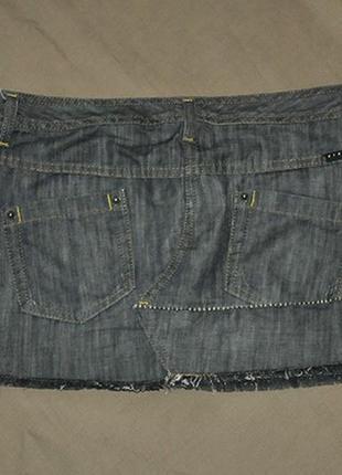 Джинсовая мини-юбка от sisley