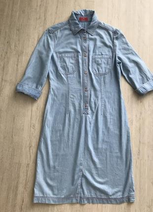 Крутое джинсовое платье