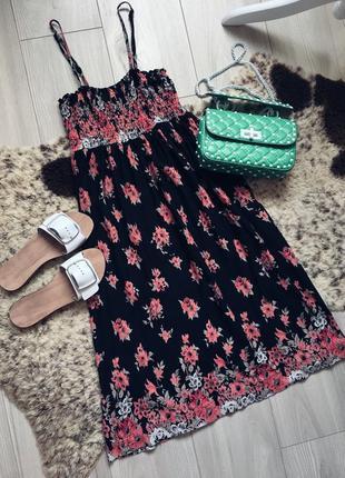 Стильное легкое платье  миди