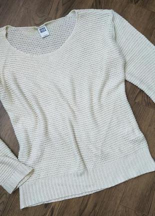 Базовый легкий свитер свитшот крупной вязки
