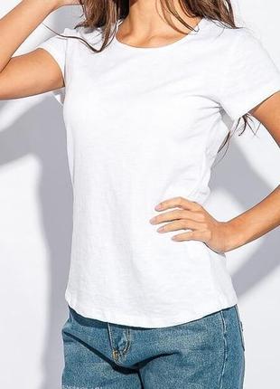 Хит 2019 - однотонная белая футболка