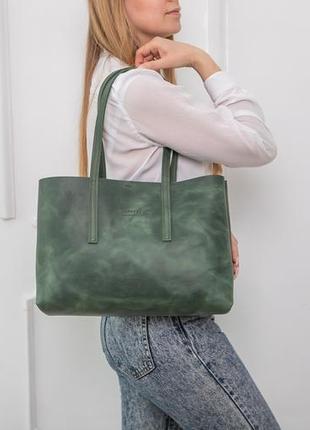 Сумка женская, модная, из кожи, цвет зеленый, ручной работы
