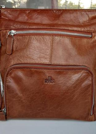 Фирменная кожаная сумка cross-body rawallan.