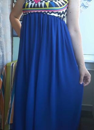 Суперяркое нарядное платьице с завышенной талией