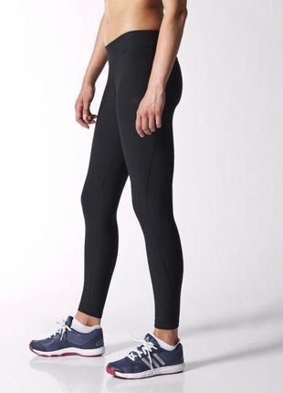 Спортивные лосины adidas climalite чёрные