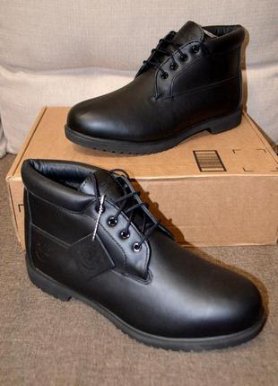 Кожаные ботинки timberland premium wp chukka, ноанс