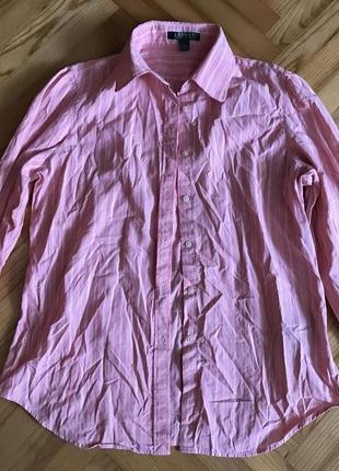 Хлопковая блуза в полоску от ralph lauren! р.-40