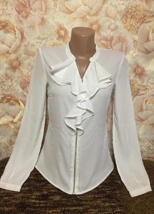 Белая легкая блузка lime ,42 р