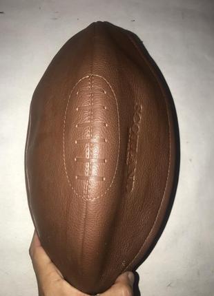 Большая мужская кожаная косметичка portland в форме мяча регби.4 фото