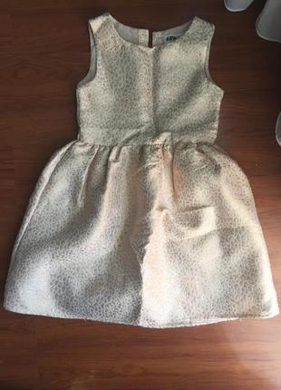 Золотистое платье h&m 7-8 лет