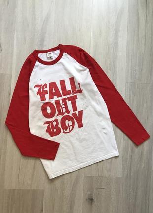 Реглан кофта лонгслив fall out boy / футболка с принтом надписью