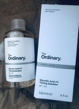 The ordinary тоник с гликолиевой кислотой glycolic acid 7% toning solution