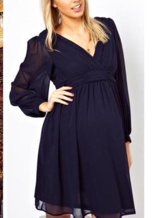 Только сутки такая цена !!!шифоновое платье для беременных asos