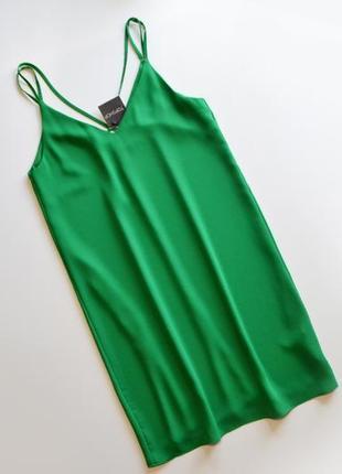 Летнее свободное зеленое платье2 фото